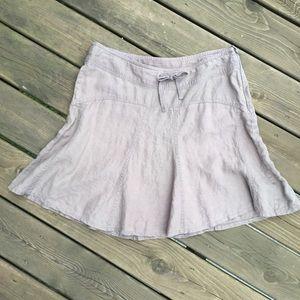 Athleta 100% linen tan skirt